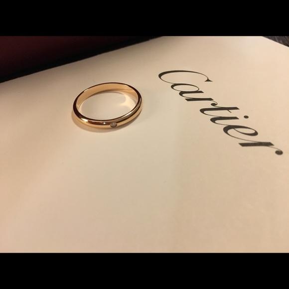043ae3ce9db98 Cartier 1895 Wedding Band, Pink Gold, Diamond